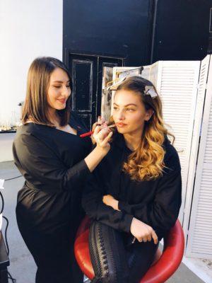 Тилан Блондо и визажист Мила Клименко