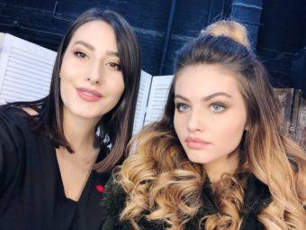 Модель Тилан Блондо и визажист Мила Клименко